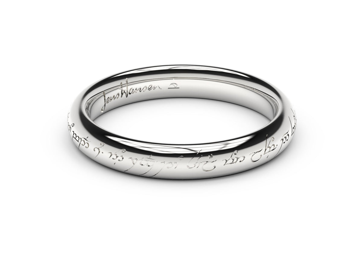 Petite Elvish Love Ring White Gold and Platinum