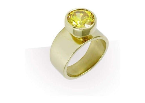 18ct Gold & Golden CZ Ring   - Jens Hansen
