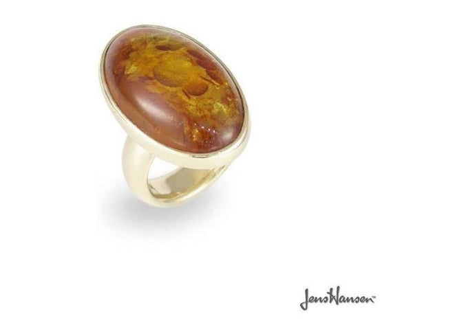 9ct Gold & Amber Ring   - Jens Hansen