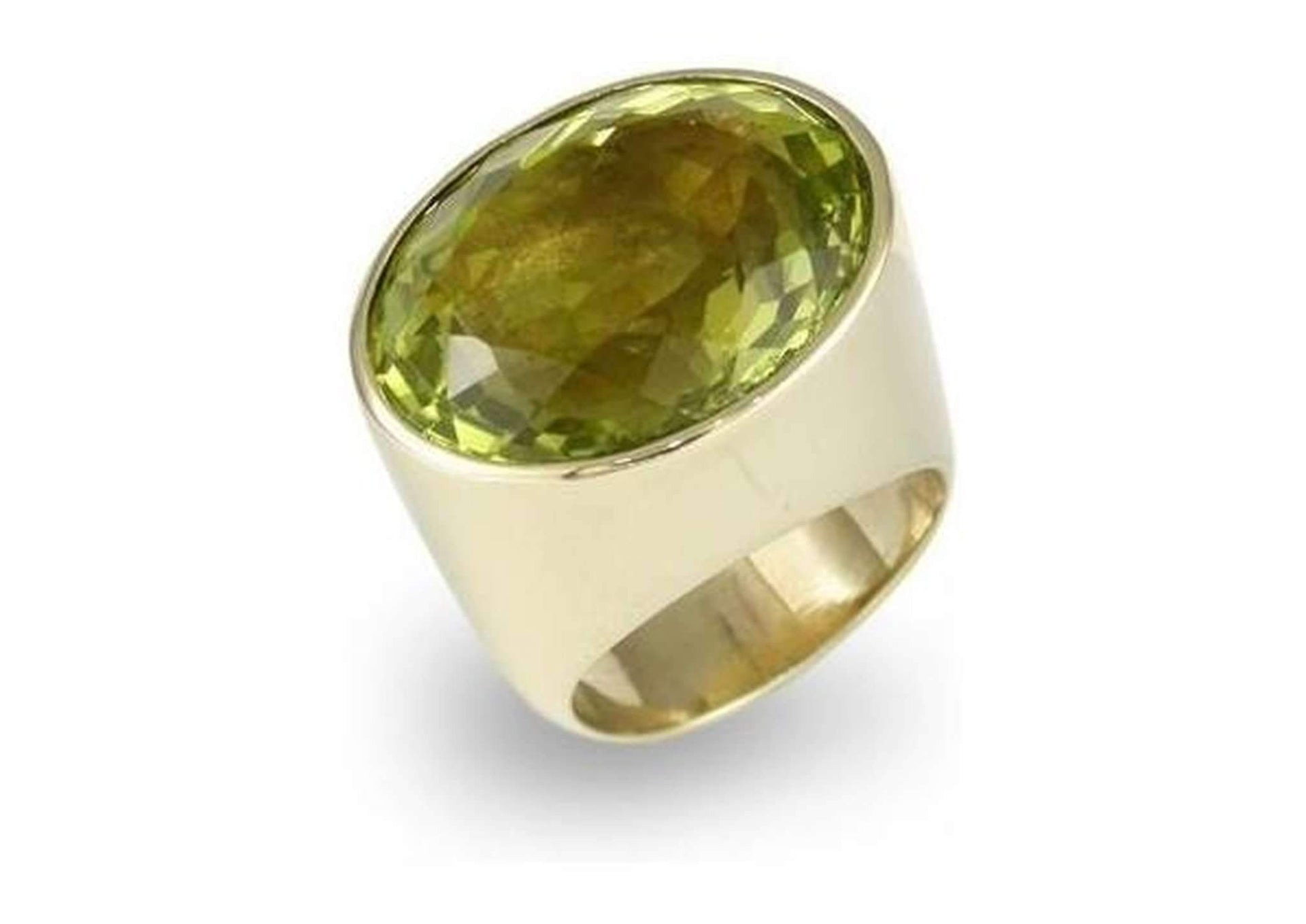 9ct Gold & Lemon Cubic Zirconium Ring   - Jens Hansen