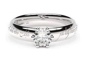 Classic Elvish Engagement Ring, ~.50ct 14ct White Gold