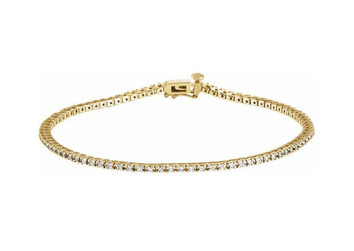 Diamond Tennis Bracelet, Yellow Gold