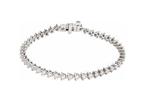 Lab Grown Diamond Tennis Bracelet, White Gold