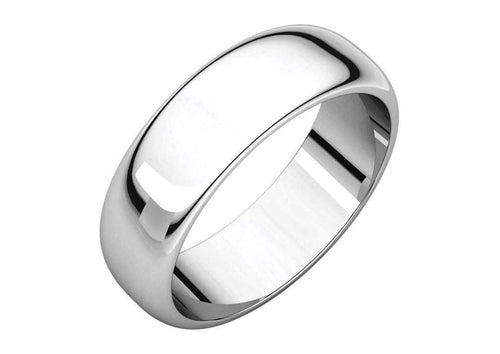 3-12mm Classic Half Round Wedding Band. White Gold, Palladium & Platinum   - Jens Hansen - 2