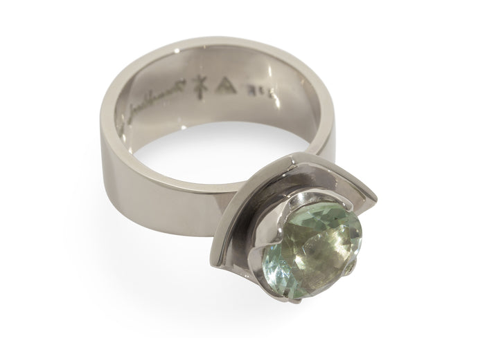 2008 Foundation Release Flower Ring, White Gold & Platinum