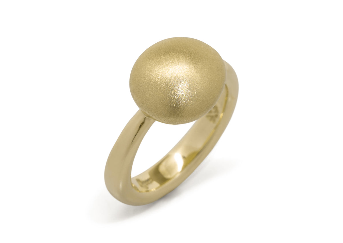 Button Ring, Yellow Gold