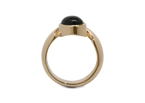 Stunning Cabochon Gemstone Ring, Yellow Gold