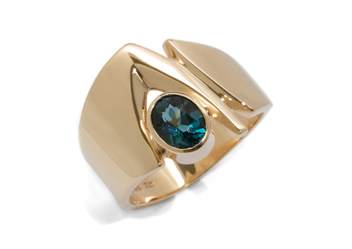 Classic Gemstone Ring, Yellow Gold
