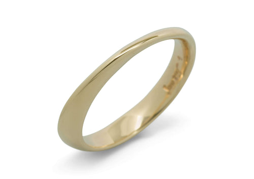 Möbius Twist Ring, Yellow Gold