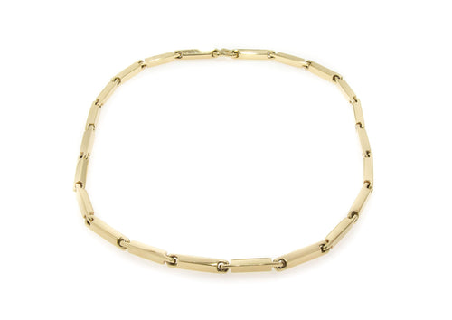Hand Crafted Block Chain, Yellow Gold
