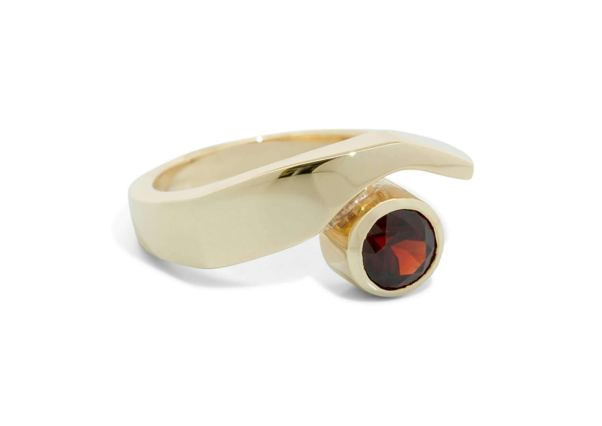 Contemporary Gemstone Ring, Yellow Gold
