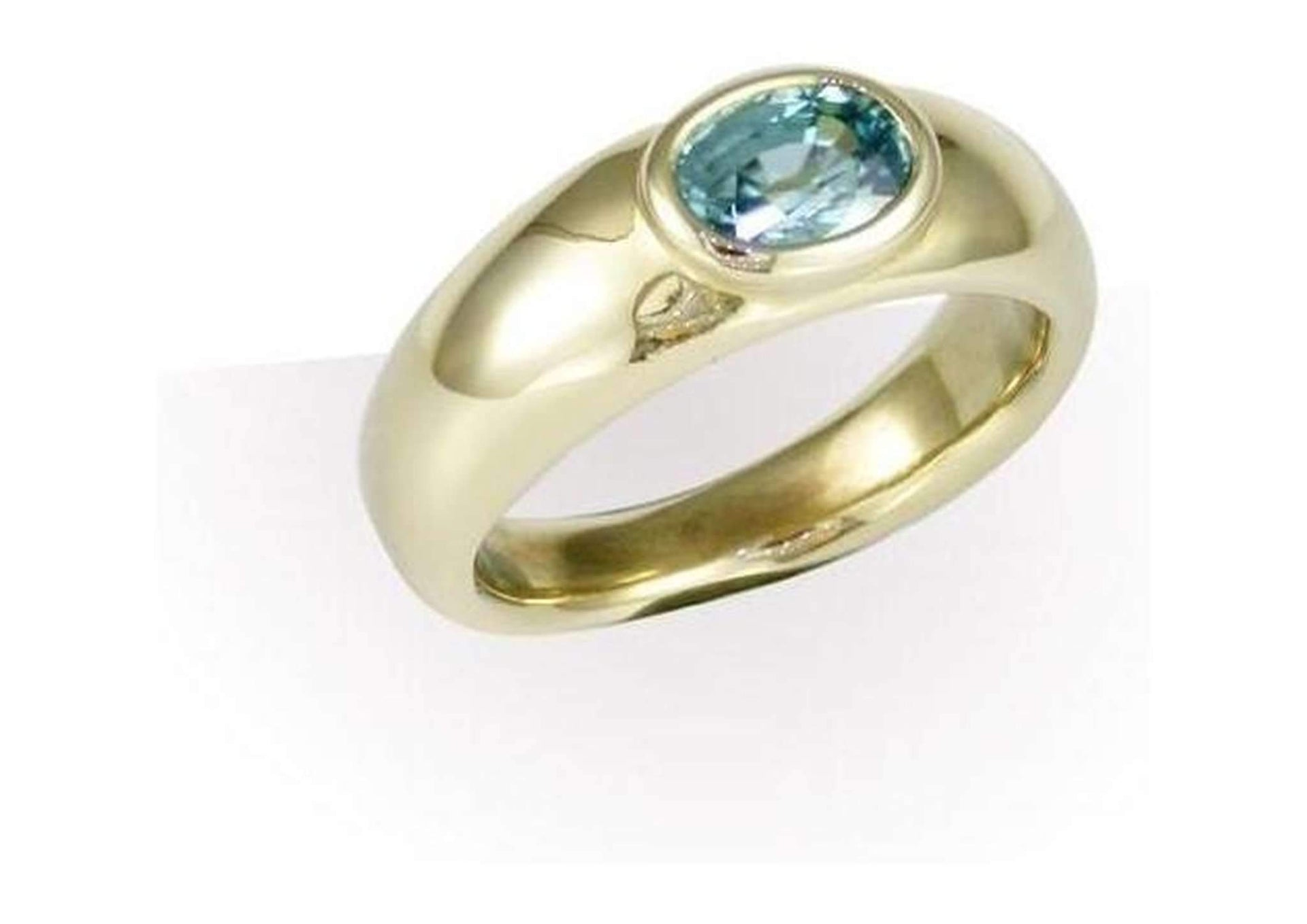 9ct Gold & Blue Zircon Ring   - Jens Hansen