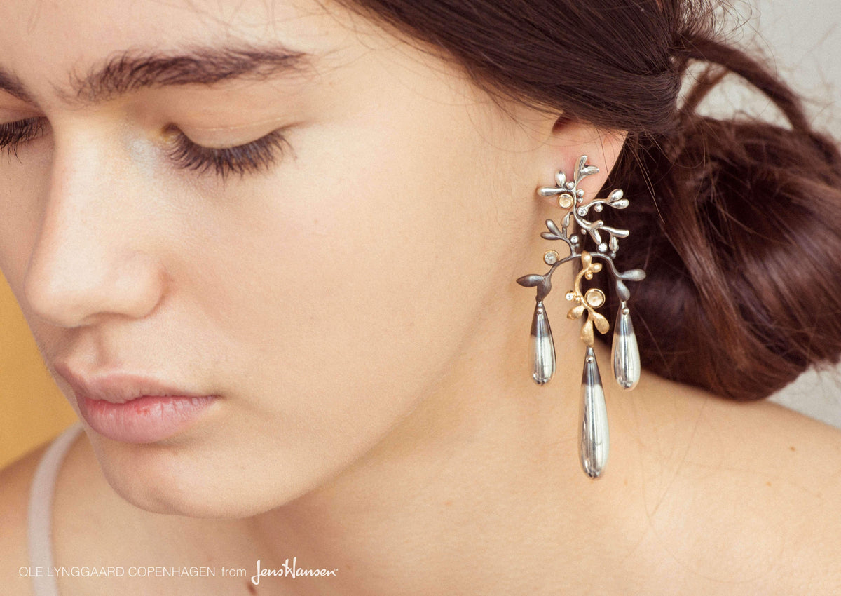 Gipsy earring in silver and gold