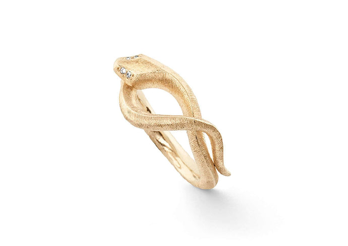 Snakes ring in 18K yellow gold and diamonds TW.VS