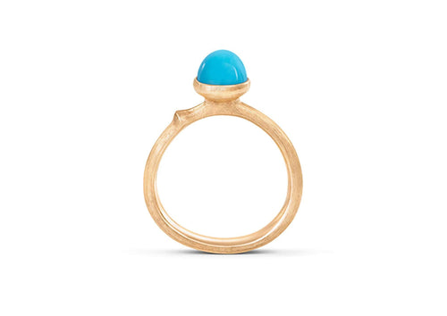 Lotus Ring in 18ct Yellow Gold with Turquoise