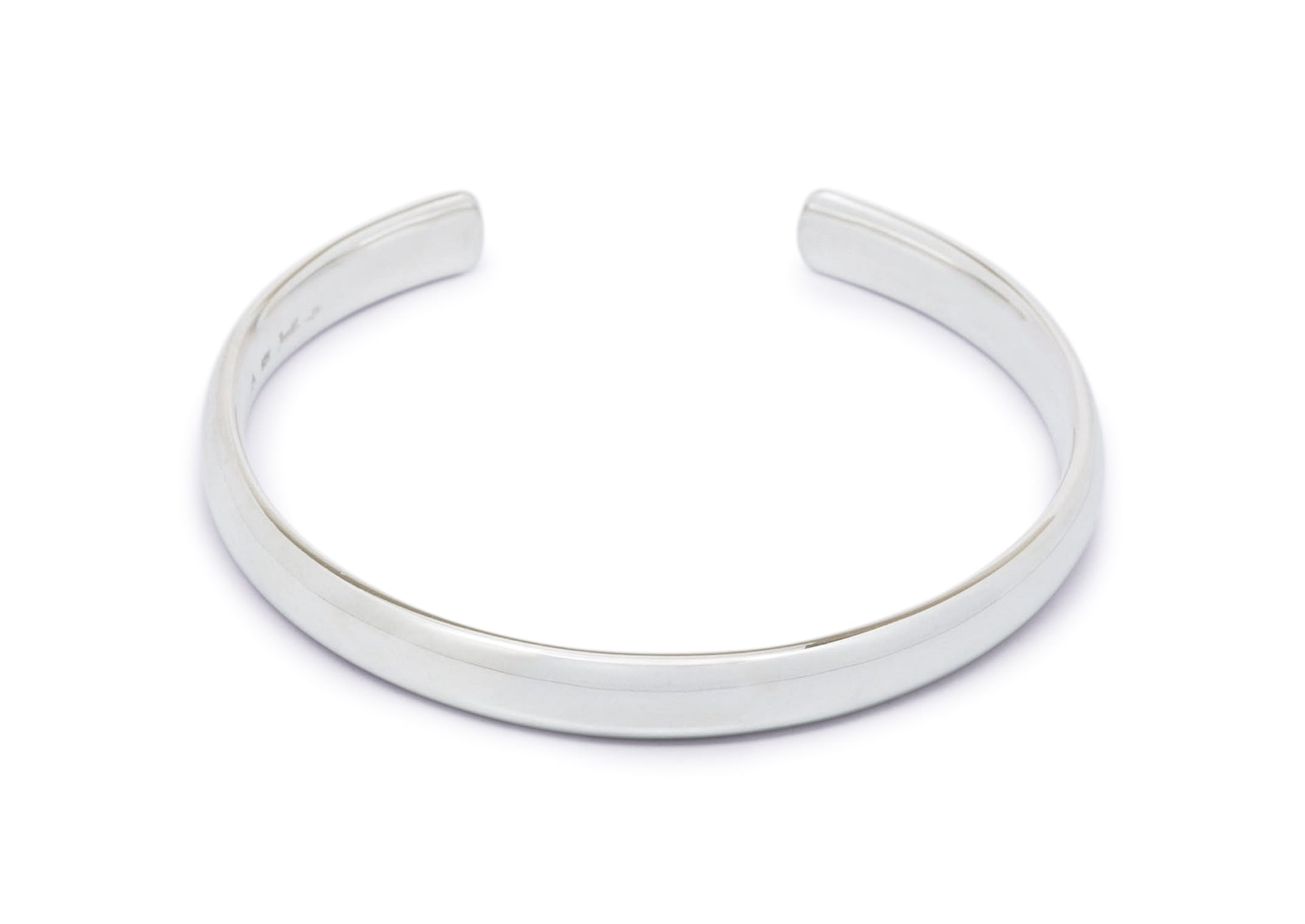 Wide Comfort Curve Cuff Bangle, Sterling Silver