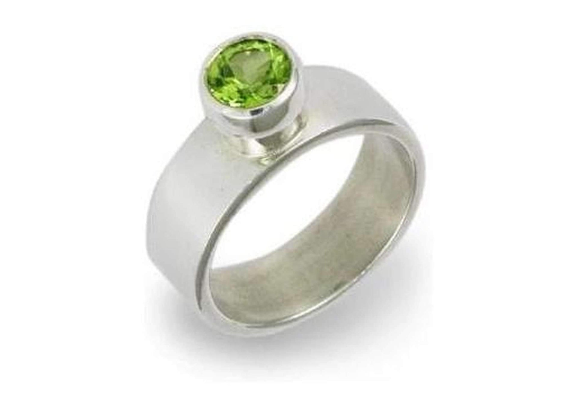 Silver Ring with Green Peridot   - Jens Hansen