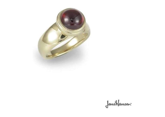 9ct Ring with Red Garnet   - Jens Hansen