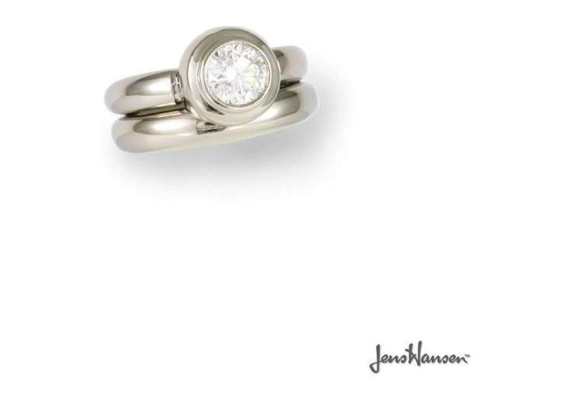 Platinum & Diamond Wedding set   - Jens Hansen