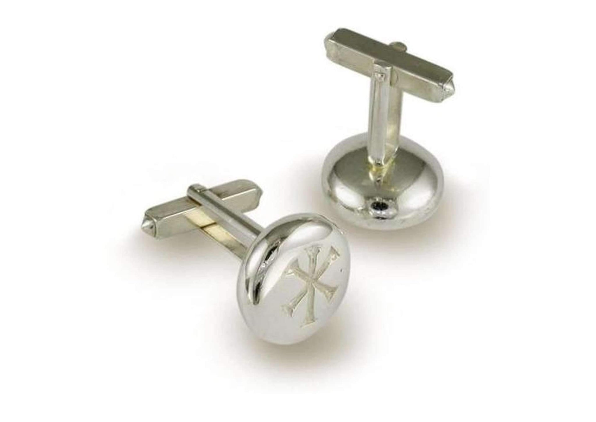 Silver Cufflinks with Jens Hansen Markers Mark   - Jens Hansen
