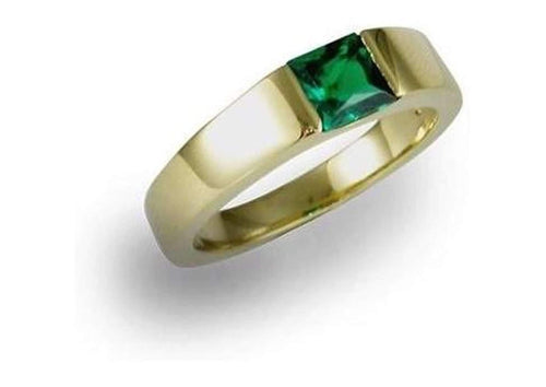 18ct Gold Ring with a Biron Emerald   - Jens Hansen