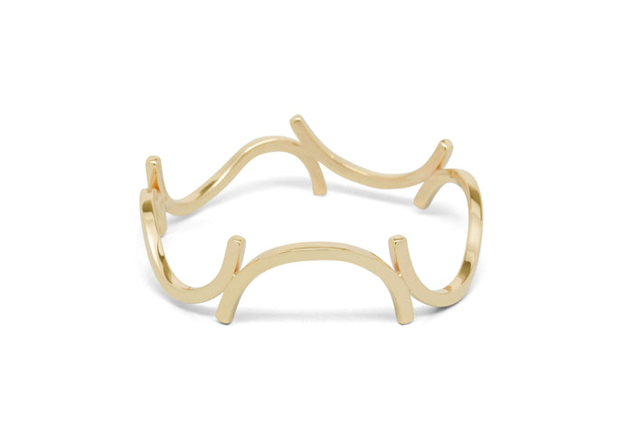 Curved Section Bangle, Yellow Gold