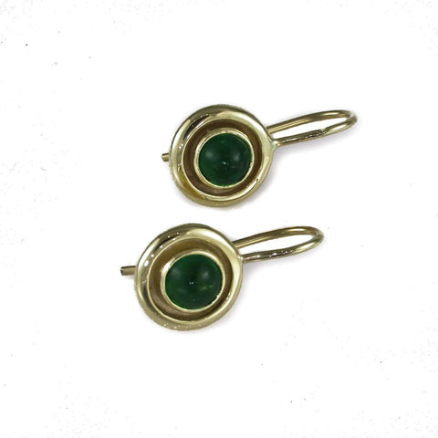 9ct Green Tormaline Earrings   - Jens Hansen