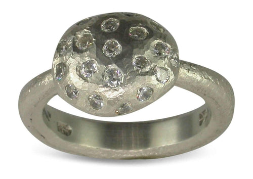 Palladium Ring with Diamonds   - Jens Hansen - 2