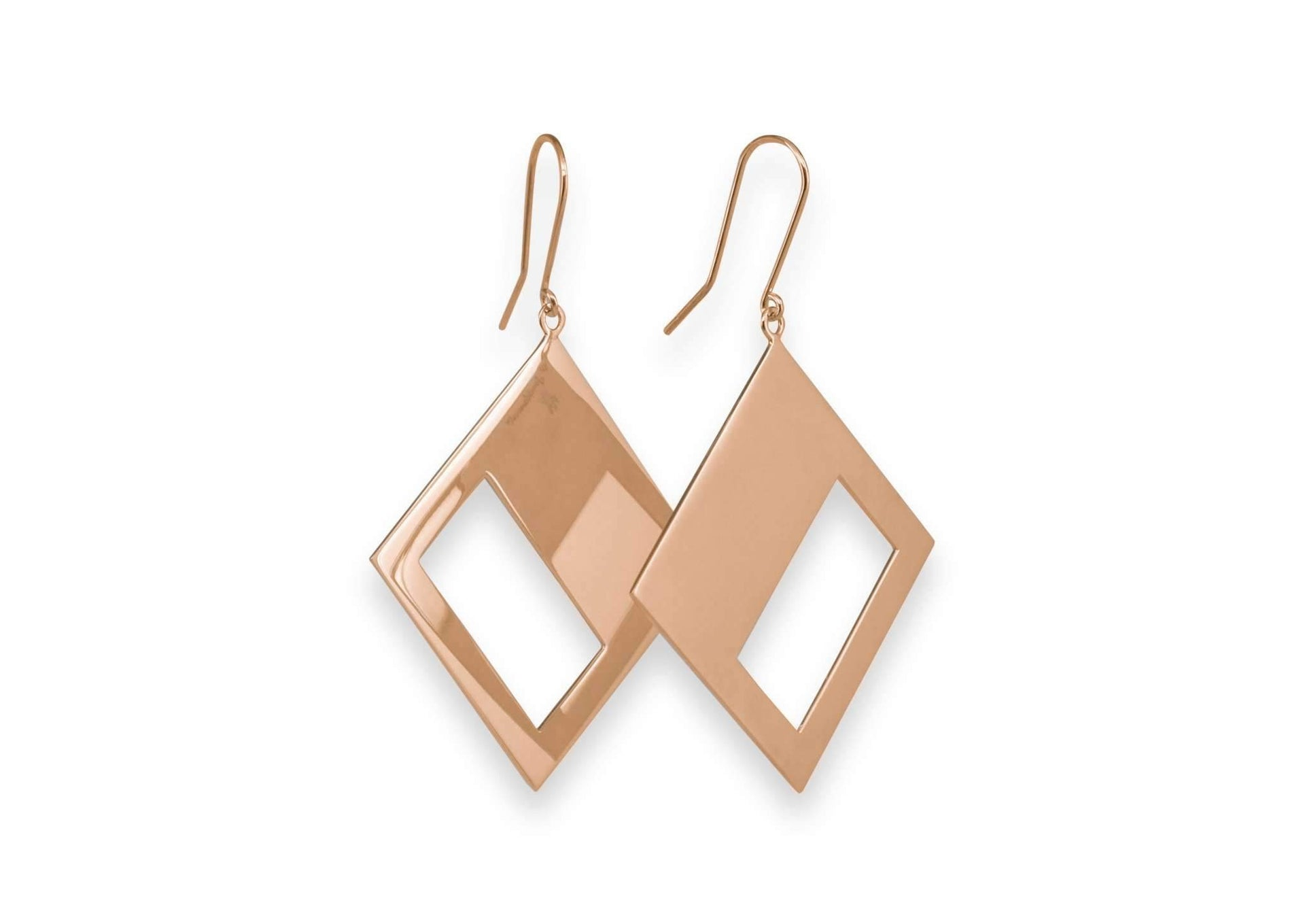 2019 Legacy Portrait Earrings, Red Gold