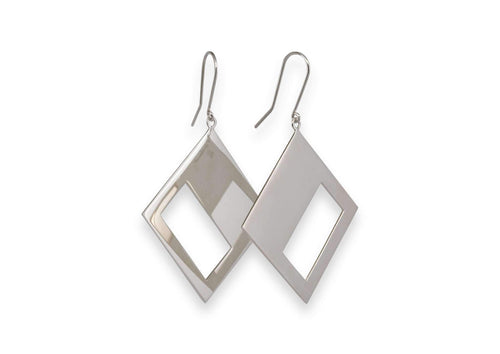 2019 Legacy Portrait Earrings, Sterling Silver