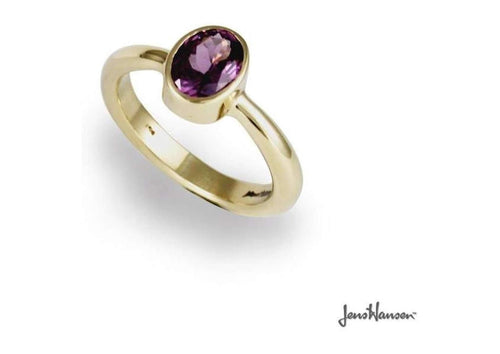 9ct Gold Dress Ring with Amethyst   - Jens Hansen