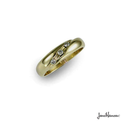 Customised 9ct Gold & Diamond Ring   - Jens Hansen