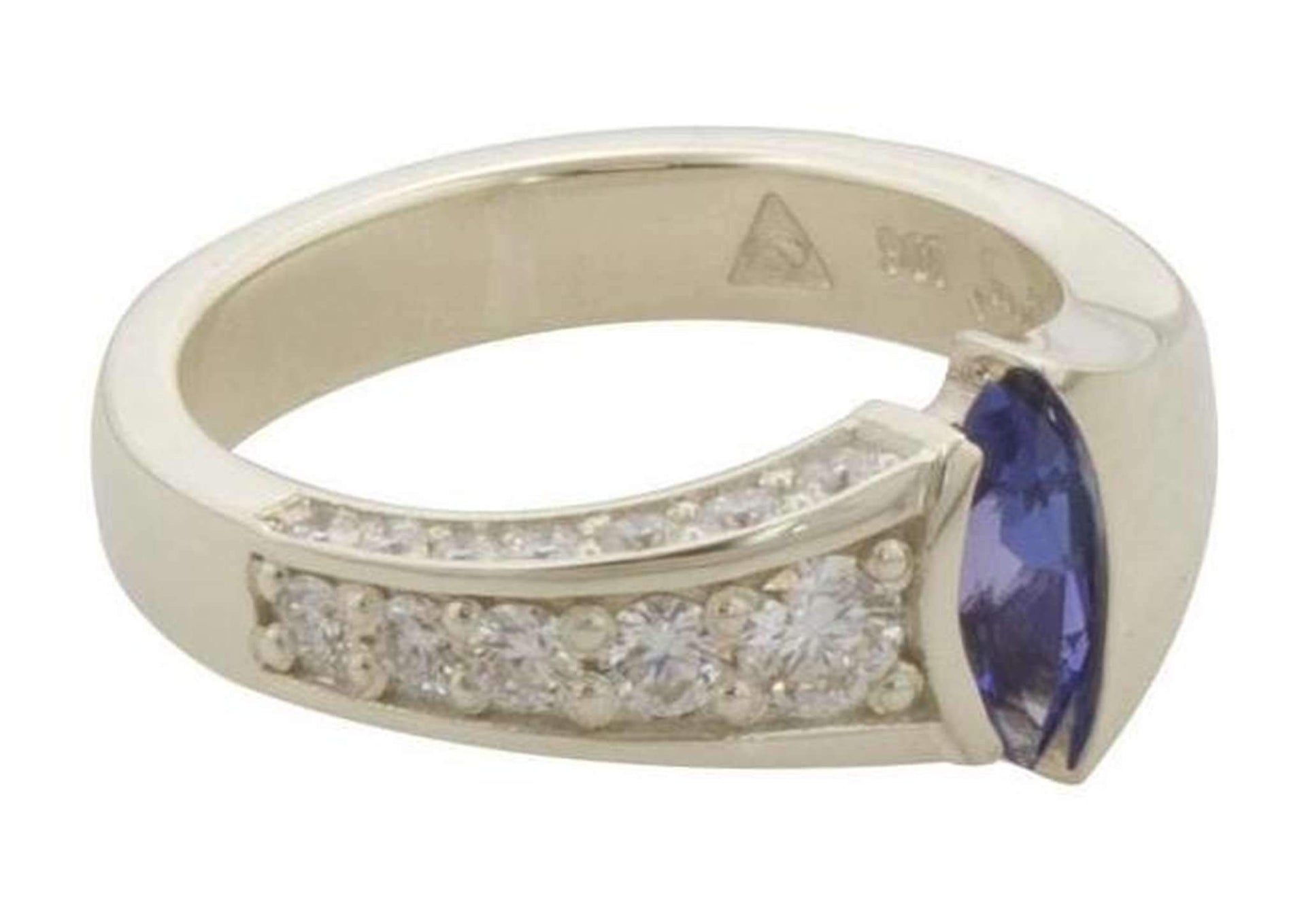 Marquise Tanzanite & Diamond Ring Design   - Jens Hansen