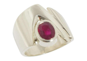 Classic Ring 1.5ct Natural Ruby   - Jens Hansen