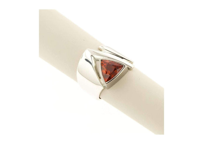 White gold and Spessatite Garnet Ring   - Jens Hansen