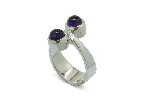 Sterling Silver ring with Purple Amethyst