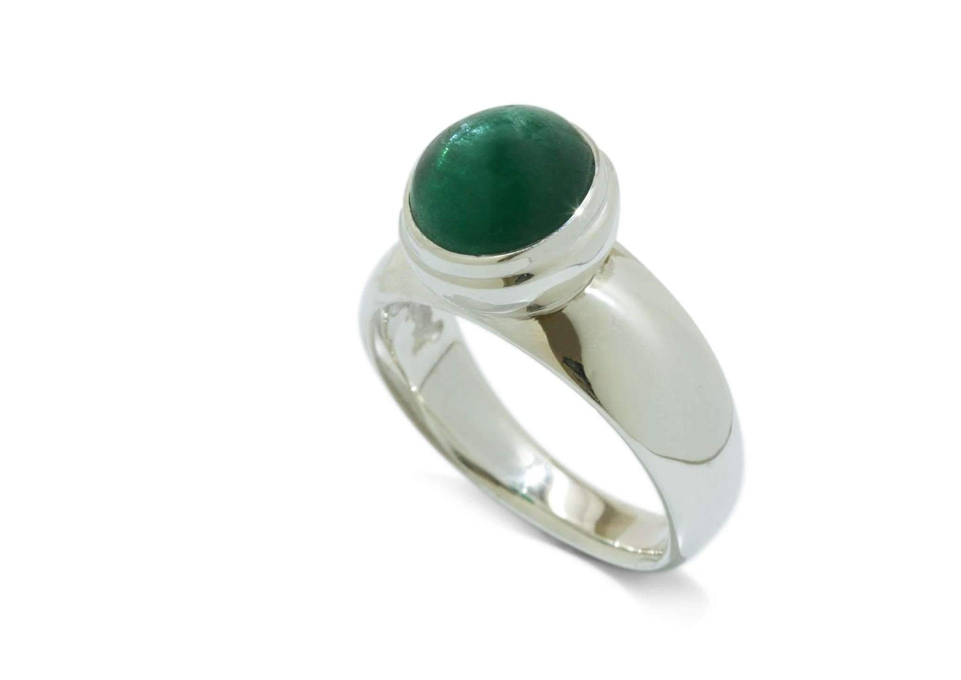 Sterling Silver ring with Green Apatite