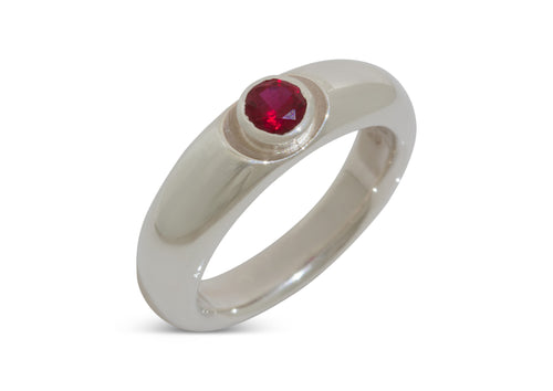 Distinct Gemstone Ring, Sterling Silver
