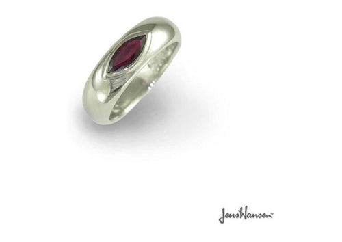 Silver Ring with Garnet   - Jens Hansen