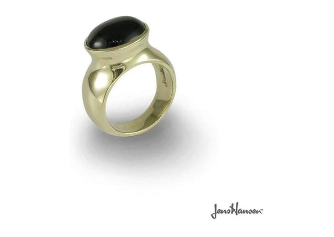 9ct Gold & Onyx Ring   - Jens Hansen