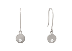 "Round ""Love Stories"" Diamond Earrings, Sterling Silver"