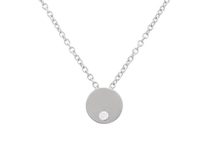 Round Love Stories Diamond Pendant, Sterling Silver