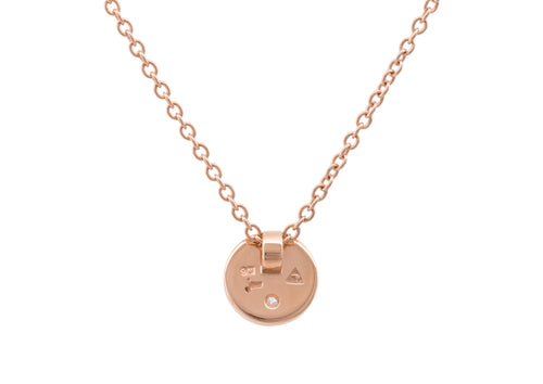 "Round ""Love Stories"" Diamond Pendant, Red Gold"