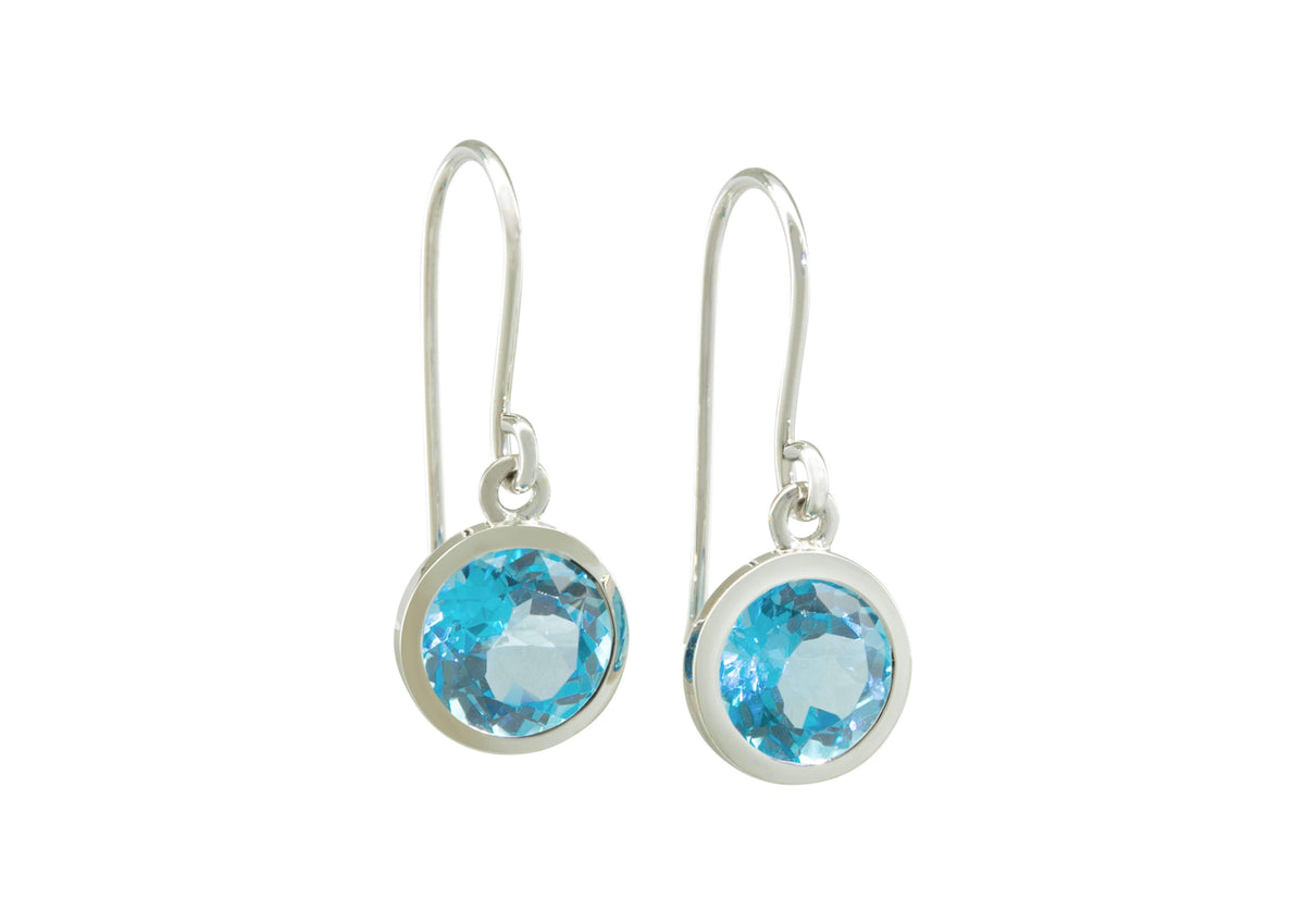 Gemstone Drop Earrings, Sterling Silver