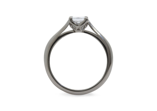 Princess Diamond Engagement Ring, Platinum