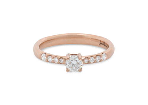Sweeter Diamond Engagement Ring, Red Gold