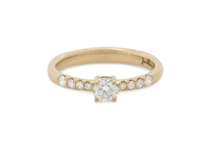 Sweeter Diamond Engagement Ring, Yellow Gold