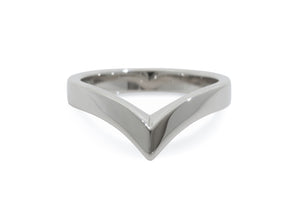 Custom Wishbone Style Wedding Band, Platinum