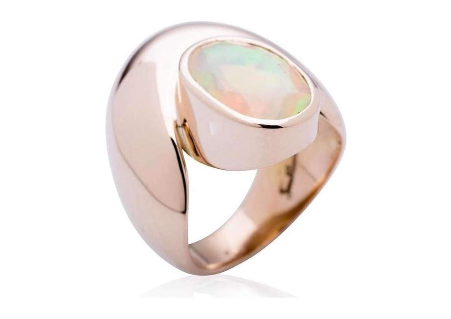 Red Gold Sculpted ring with Ethiopian Opal   - Jens Hansen