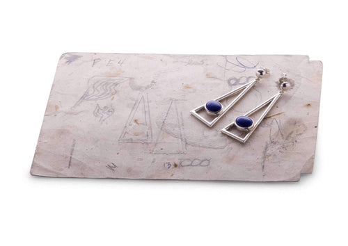 2012 Legacy Sterling Silver Lapis Lazuli Earrings.   - Jens Hansen - 2